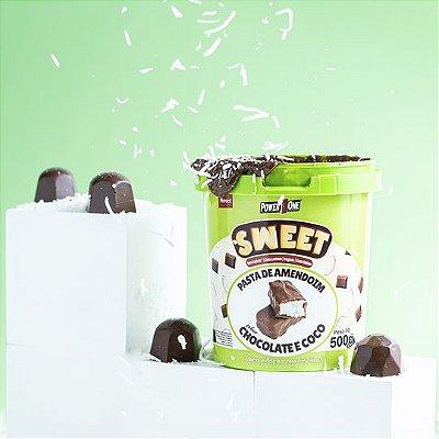 Pasta de Amendoim Sweet sabor Chocolate e Coco 500g - Power One