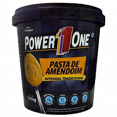 Pasta de Amendoim Integral Lisa 1kg - Power One