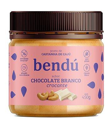 Pasta de Castanha de Caju sabor Chocolate Branco Crocante 450g - Bendú