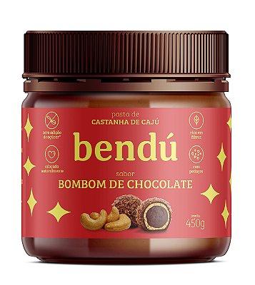 Pasta de Castanha de Caju sabor Bombom de Chocolate 450g - Bendú