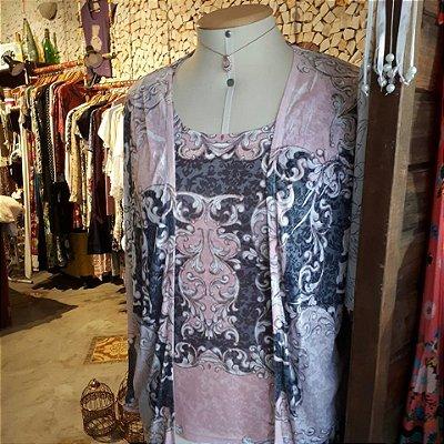 Conjunto Blusa e Casaqueto Arabescos
