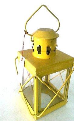 Lamparina/Porta-Vela Amarelo