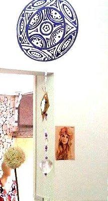 Móbile Mandala em Vidro e Miçangas