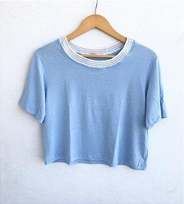 Cropped luxo Azul - Varanda