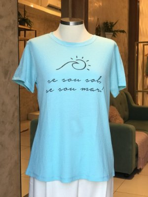 Tee luxo Se sou Sol, Se sou Mar - Onde mora a Gratidão