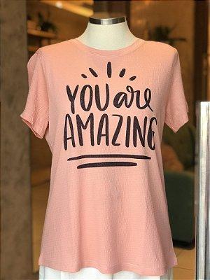 Tee luxo You are Amazing - Onde mora a Gratidão