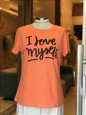 Tee luxo I Love Myself - Onde mora a Gratidão
