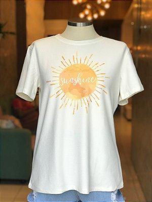 Tee luxo Sunshine - O Sol já Vem