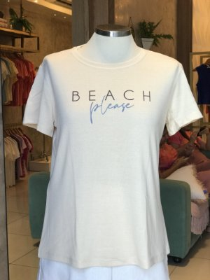 Tee luxo Beach Please - AMAR