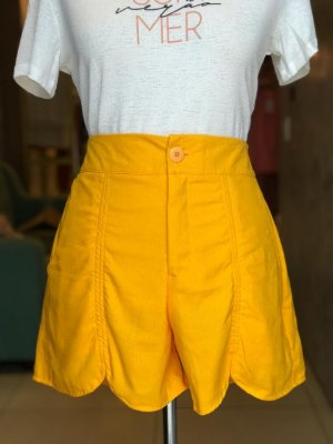 Short Amarelo - Por Onde For
