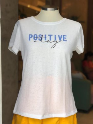 Tee luxo Positive Day - Por Onde For