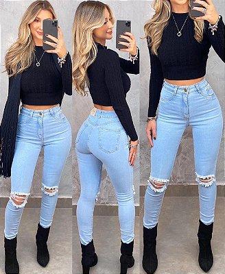 Calça Jeans Destroyed Monique