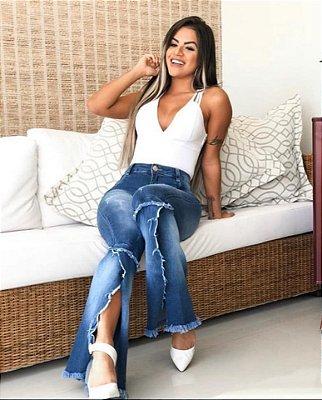 Calça Jeans  Mega Flare