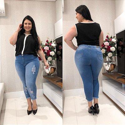 Calça Capri Plus Size Melissa