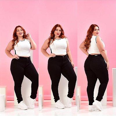 Calça Jeans Plus Size Preta