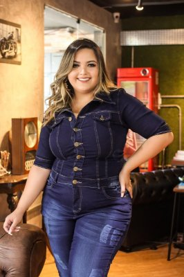 Macação  Jeans Karla