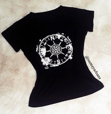 T-Shirt Bussola comprida