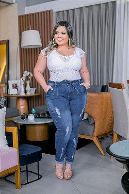 Calça Jeans Alicia com Cinto