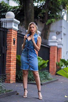 Vestido jeans regata Luiza
