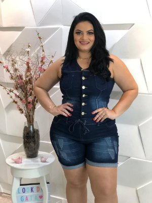 Macação Jeans Sophia