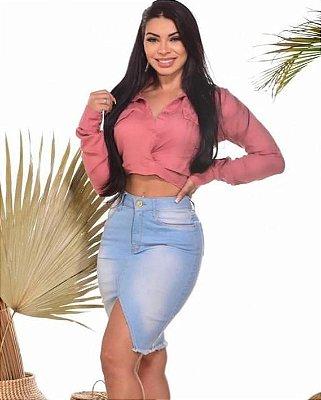 Saia Jeans Bárbara