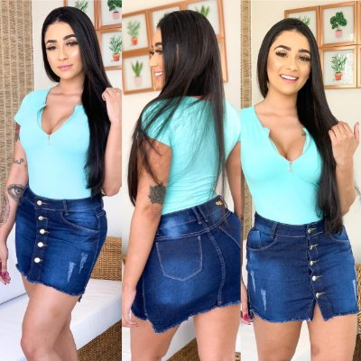 Saia Jeans Isabelly
