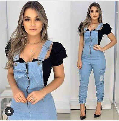 Macacão Jeans Daniella