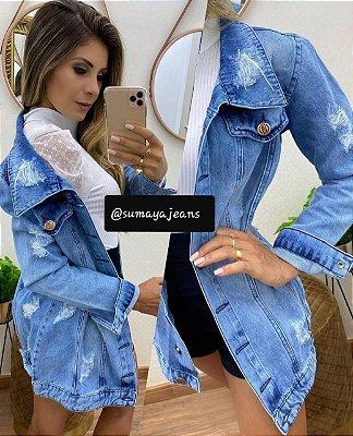 Max Jaqueta Jeans Letícia