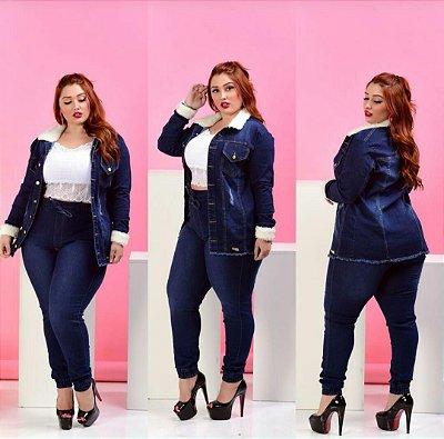 Jaqueta Jeans Pelúcia Plus
