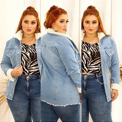 Jaqueta Jeans Plus Pelúcia