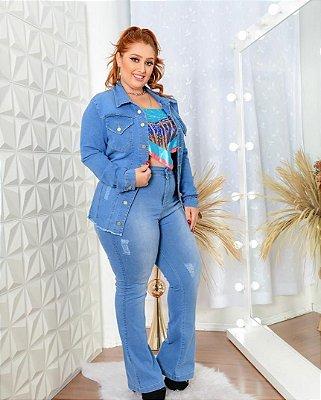 Conjunto Jeans Plus Verônica