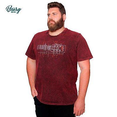 Camiseta Gola Careca Plus Size - Guitar Arm