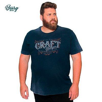 Camiseta Gola Careca Plus Size - Craft Stronger