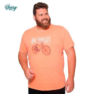Camiseta Gola Careca Plus Size