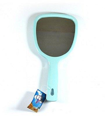 Espelho de Mão aumento 2x e 5x Azul
