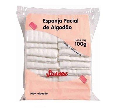 Esponja Facial de Algodão Sussex 100g