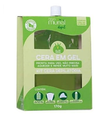 Kit Cera Depilatória Gel Aloe Vera Muriel 170g