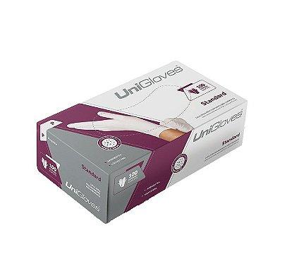 Luva Unigloves Látex c/ pó Standard 100un P