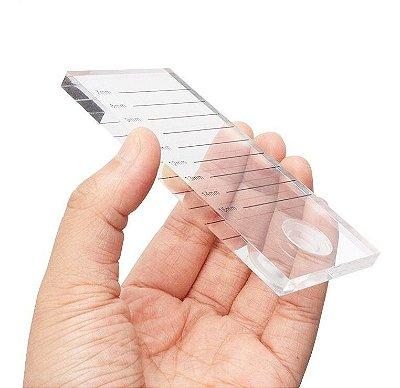 Pedra Cristal para Alongamento de cílios com marcação