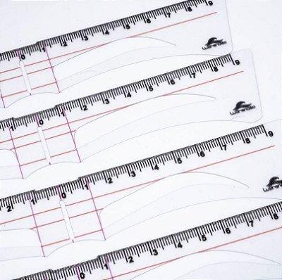 Régua da Lu para designers de sobrancelhas - Atacado