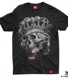 Camiseta Caveira Coroa