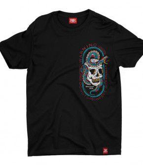 Camiseta Caveira Cobra