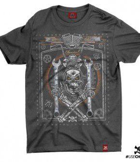 Camiseta Caveira Mecânico
