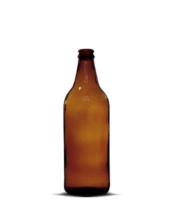 Garrafa Âmbar Cerveja Artesanal 600ml | 12 unidades | Sem Tampa