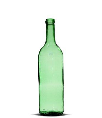 Garrafa Verde Bordaleza Vinho 750ml | 12 unidades | Sem Tampa
