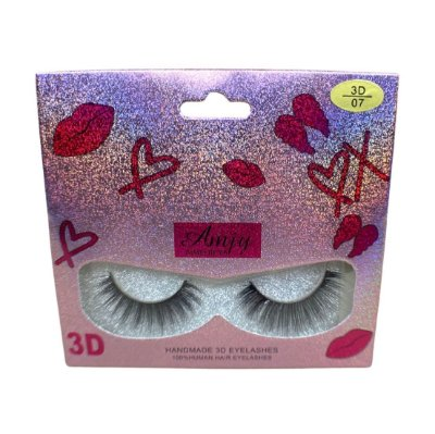 Cílios postiços 3D-07 cerdas naturais Adriane Makeup