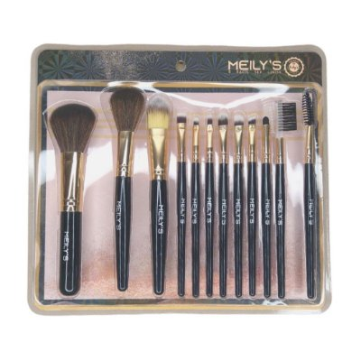 Kit com 12 pincéis de maquiagem Meilys MKP-505