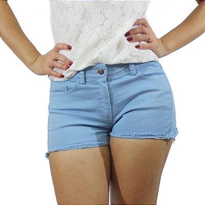 Shorts Sarja Com Barra Desfiada - Chocoleite