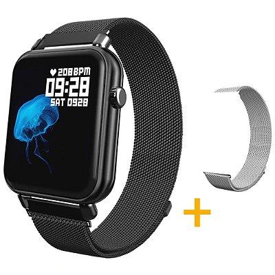 Relógio Eletrônico Smartwatch CF Style - Android e iOS + 1 Pulseira de Brinde