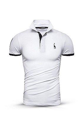 Camisa Polo Giraffe UG - Branca - 100%  Algodão